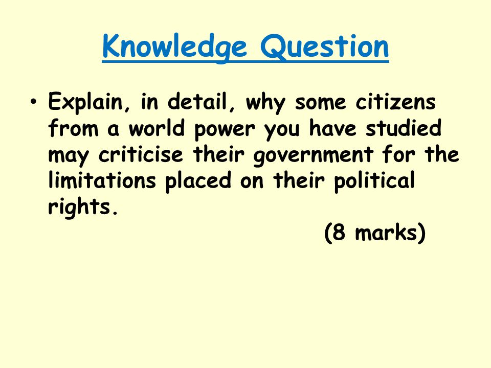 Knowledge Question