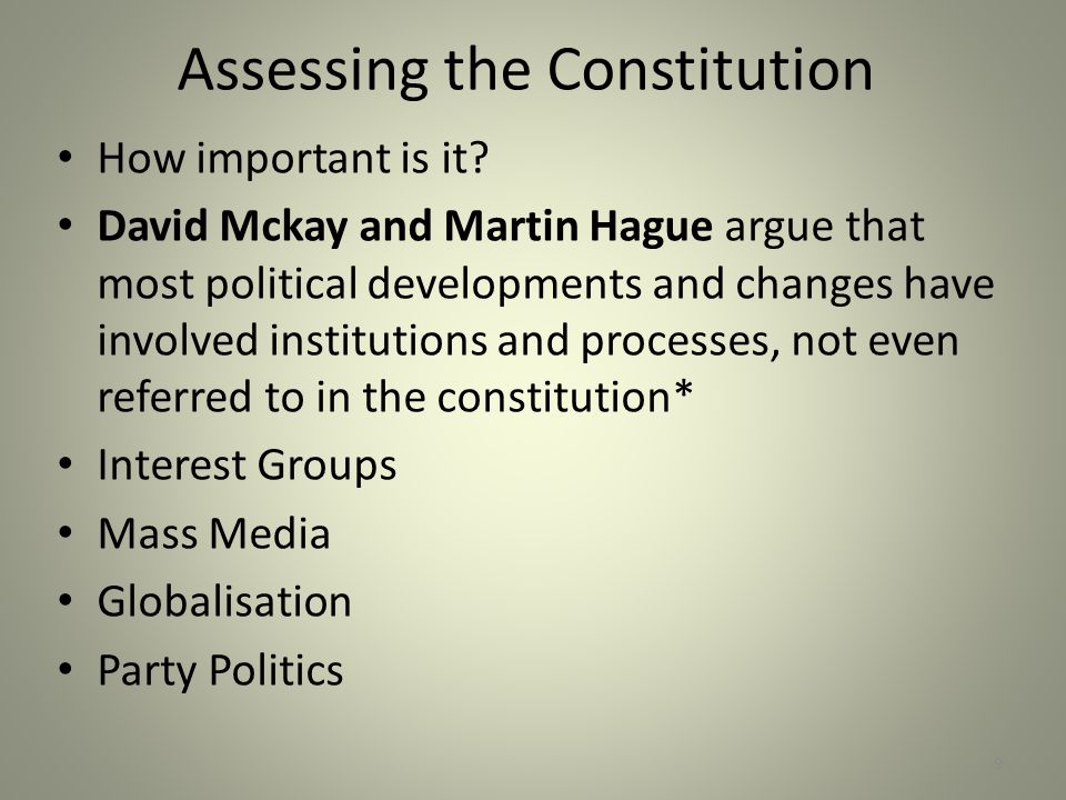 Assessing the Constitution