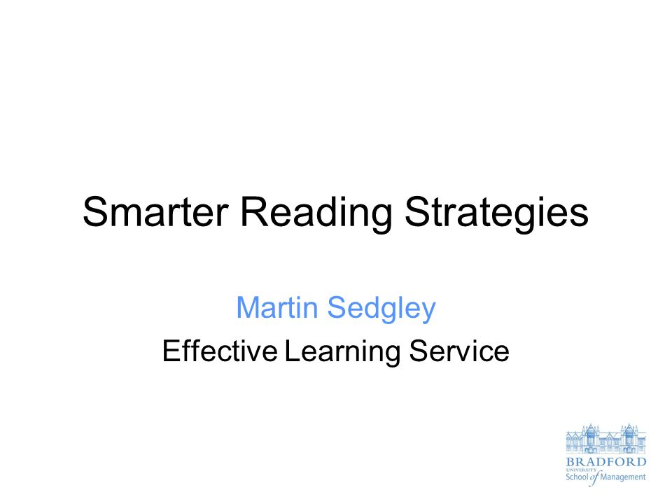 Smarter Reading Strategies