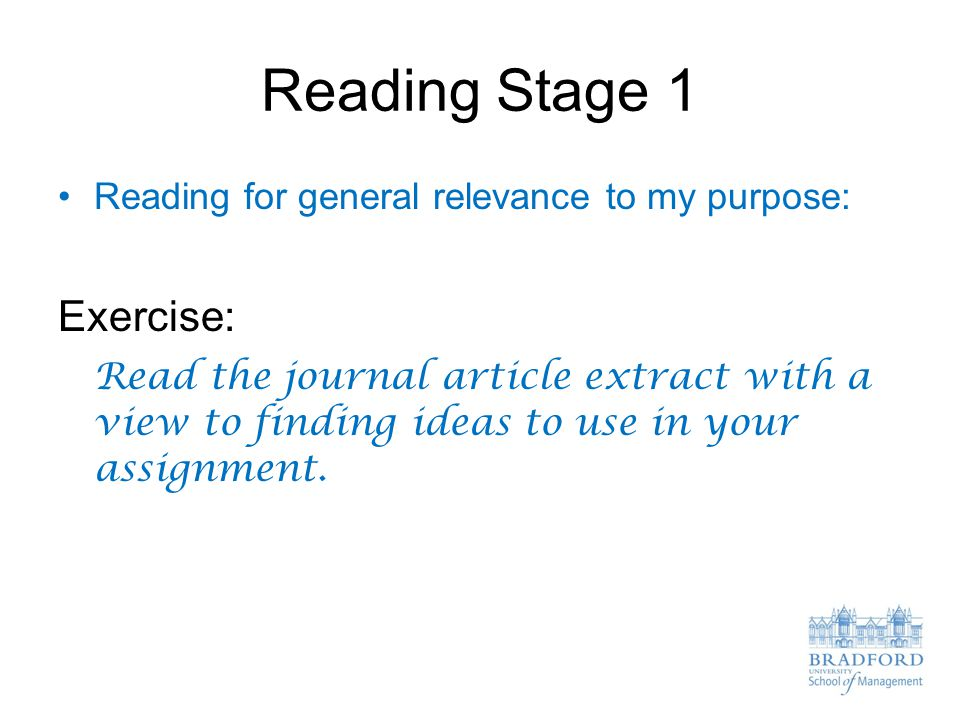 Reading Stage 1 Exercise: