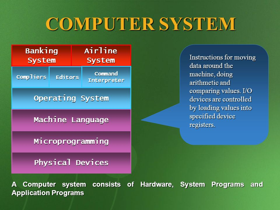 COMPUTER SYSTEM Banking System Airline System Operating System