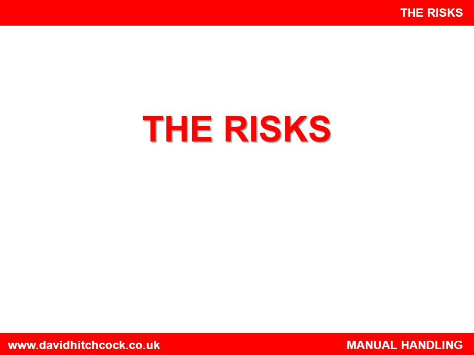 THE RISKS THE RISKS.