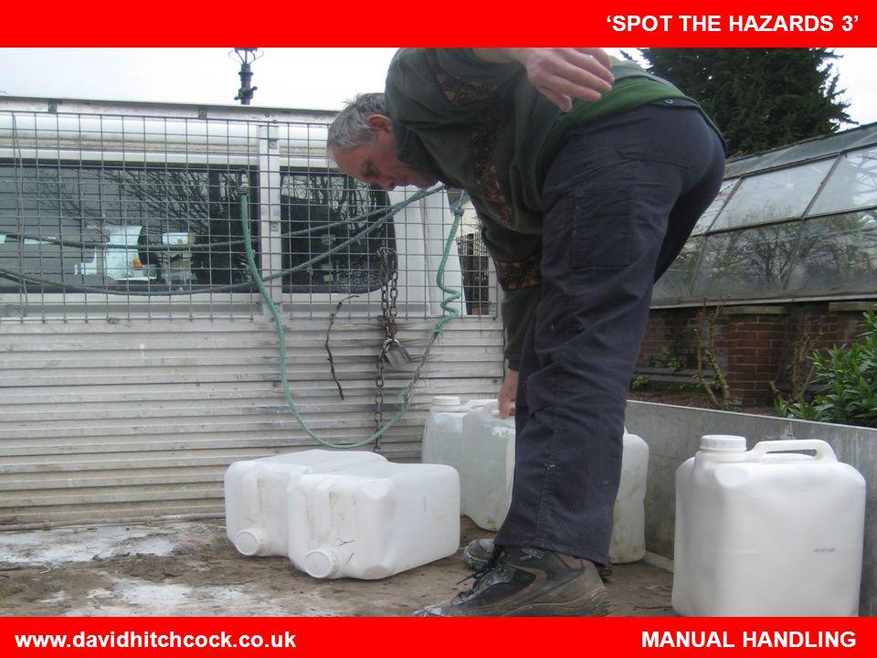 www.davidhitchcock.co.uk MANUAL HANDLING
