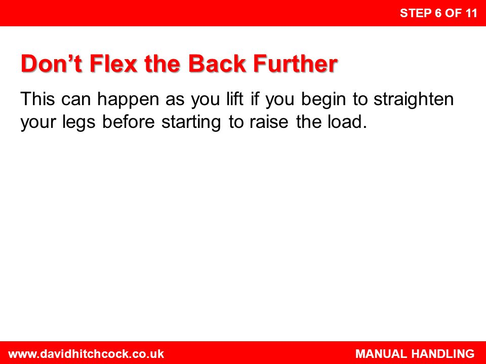 Don't Flex the Back Further