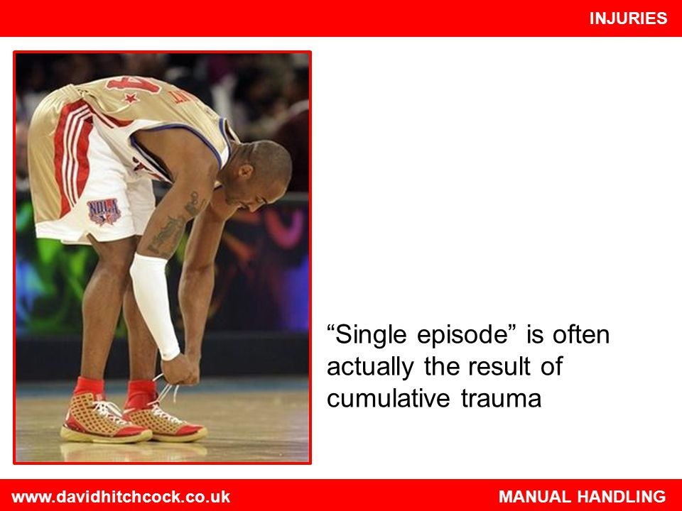 Single episode is often actually the result of cumulative trauma