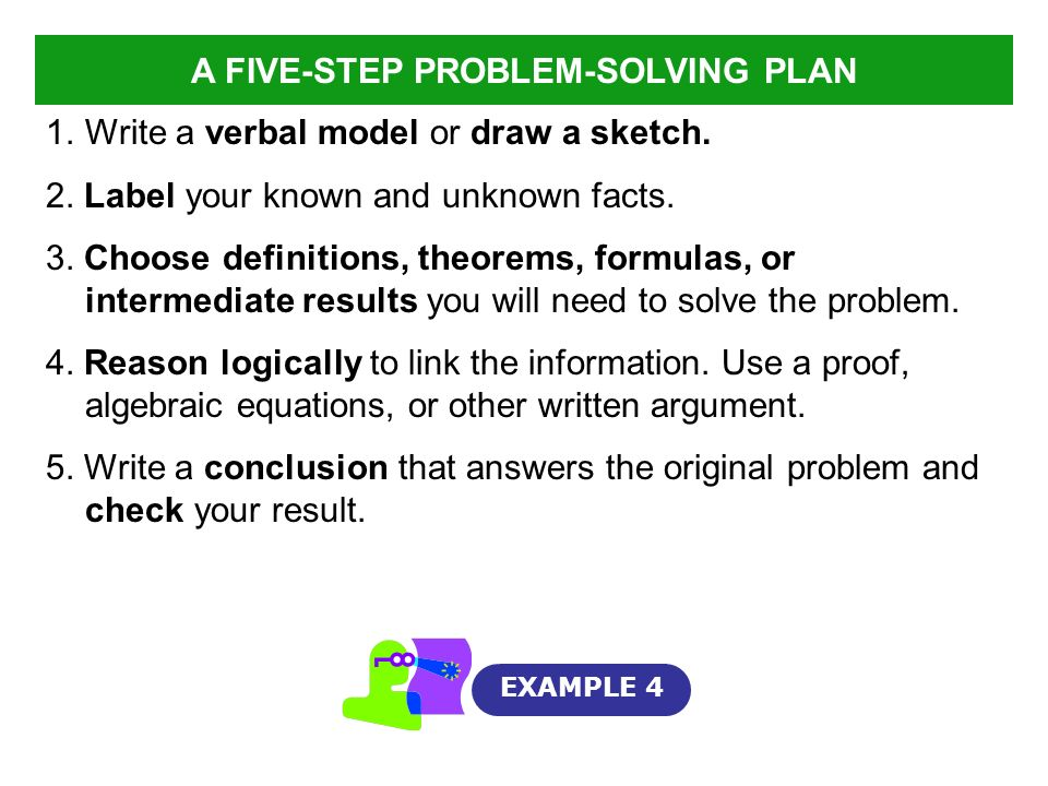 A FIVE-STEP PROBLEM-SOLVING PLAN