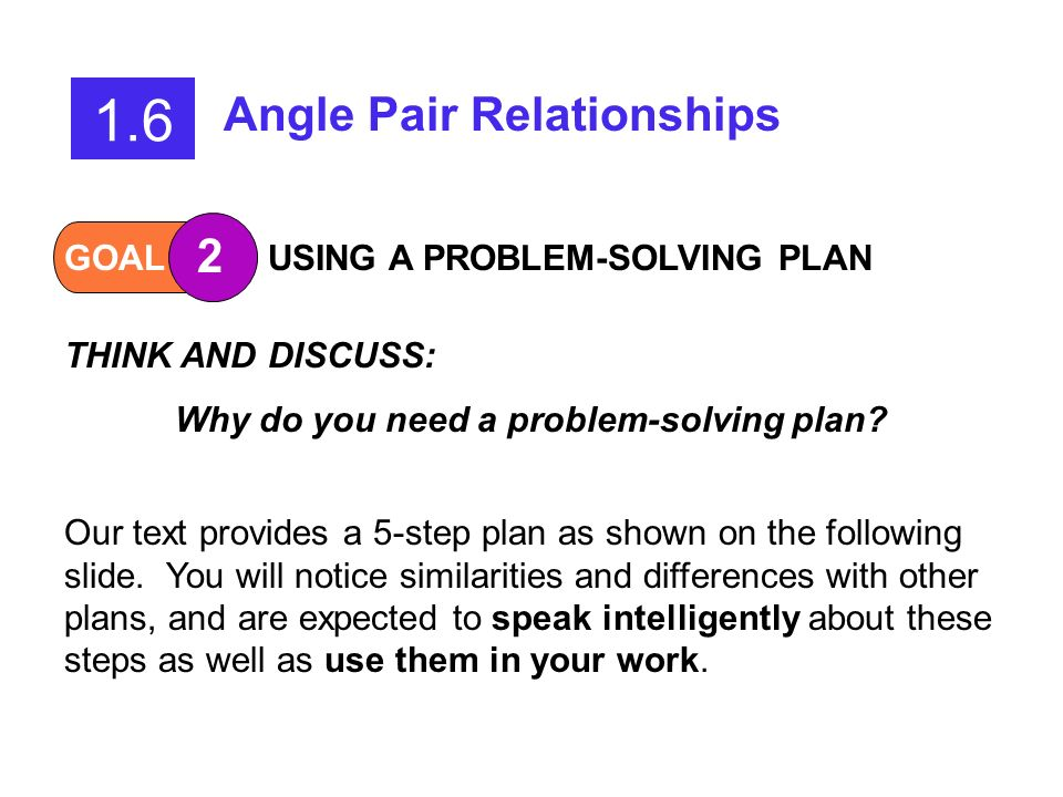 Why do you need a problem-solving plan