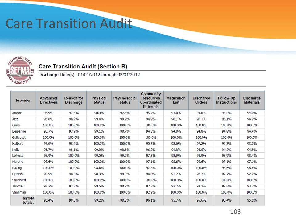 Care Transition Audit