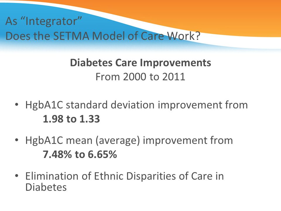 As Integrator Does the SETMA Model of Care Work