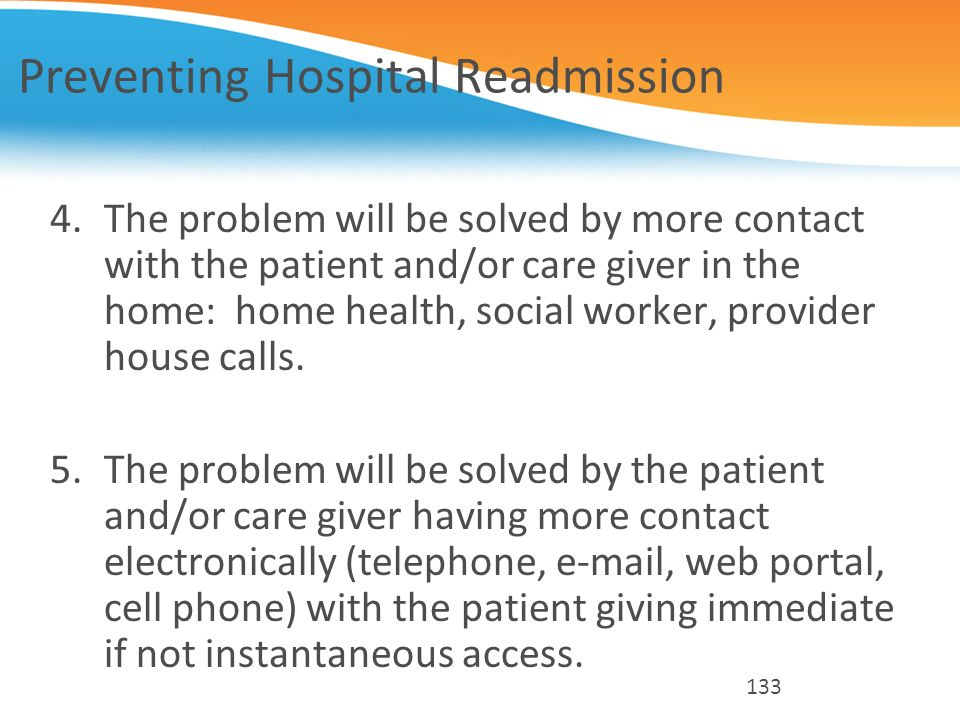 Preventing Hospital Readmission