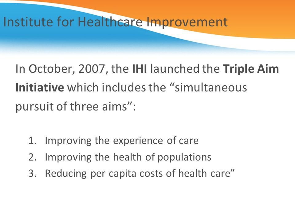 Institute for Healthcare Improvement