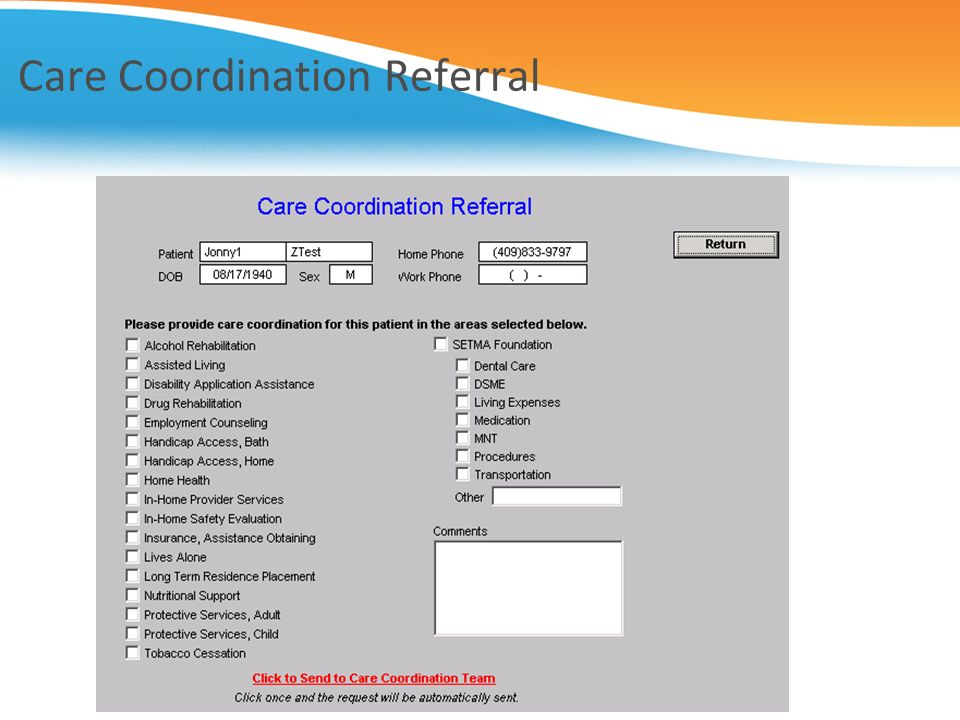 Care Coordination Referral