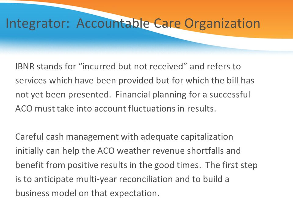 Integrator: Accountable Care Organization