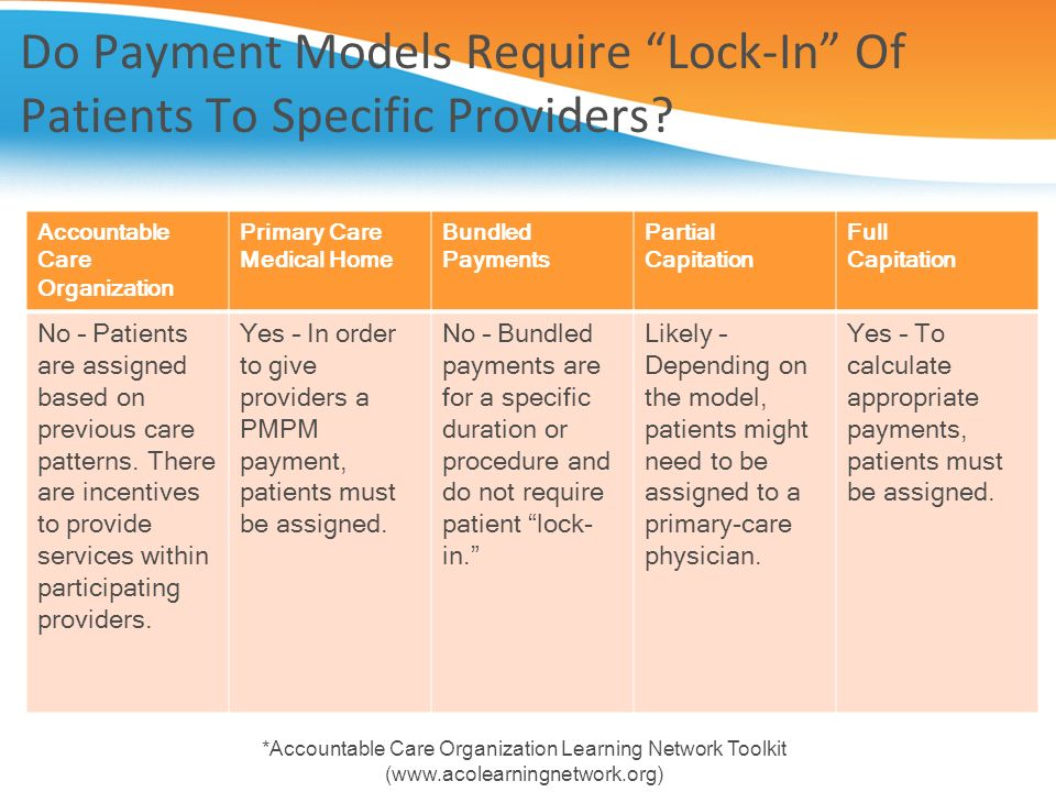 Do Payment Models Require Lock-In Of Patients To Specific Providers