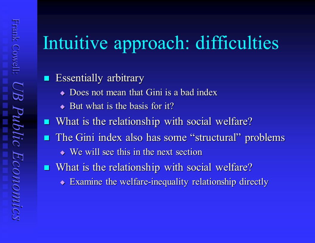Intuitive approach: difficulties