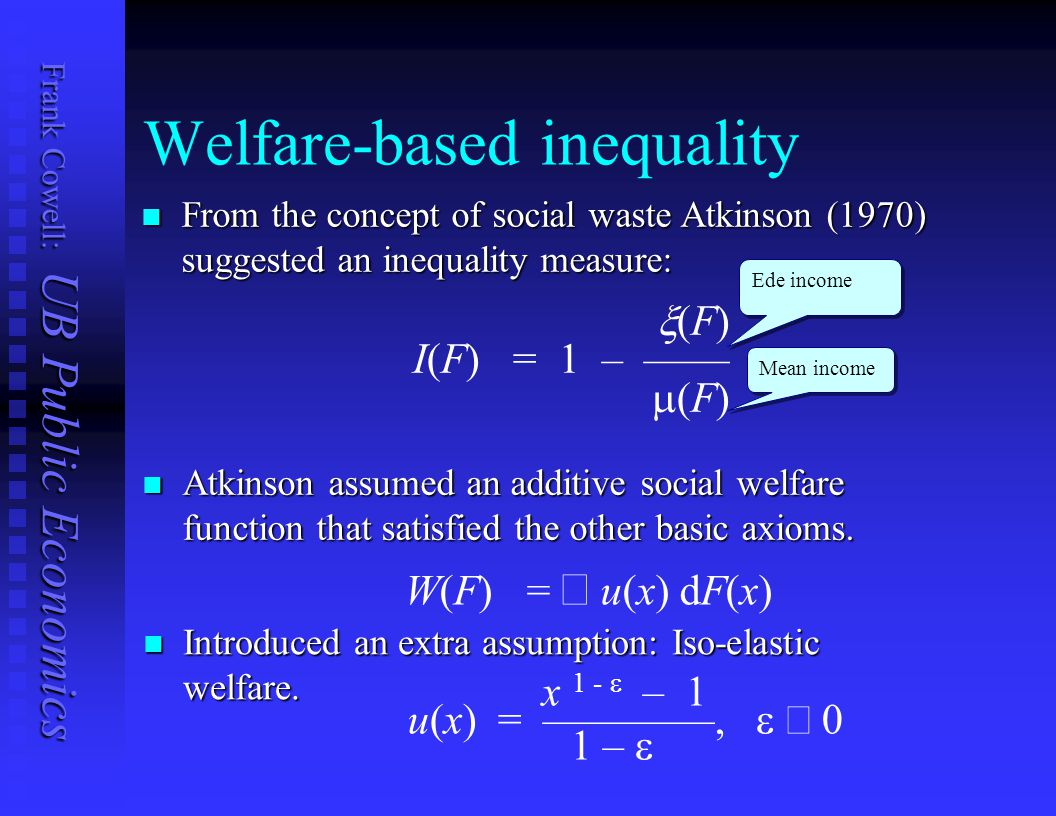 Welfare-based inequality