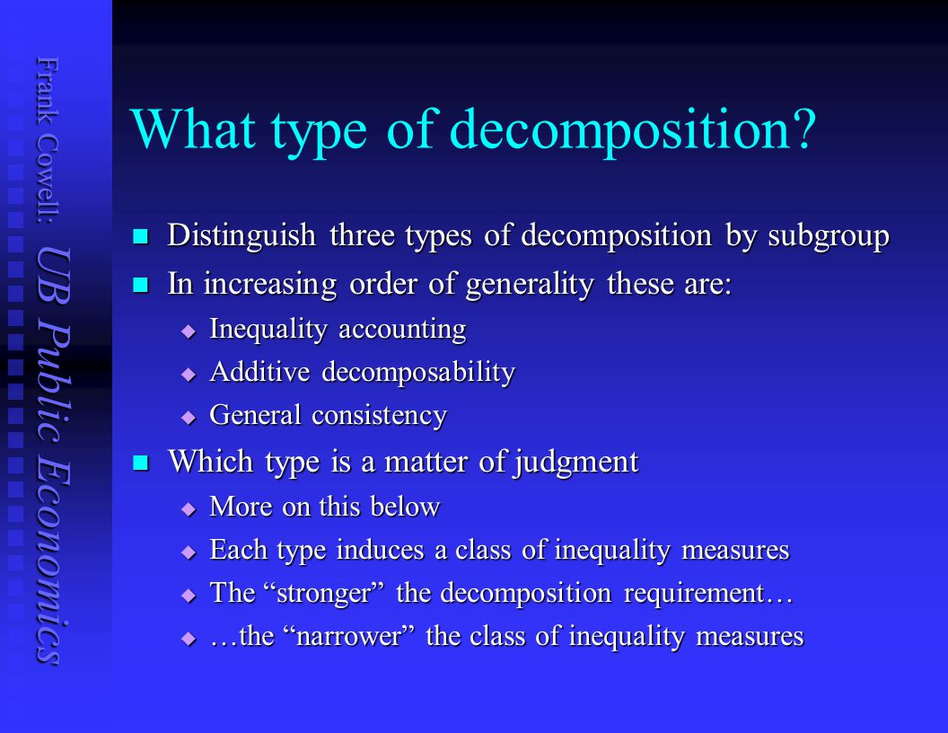 What type of decomposition
