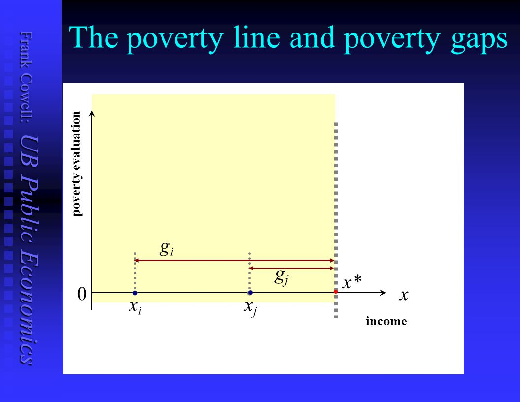 The poverty line and poverty gaps