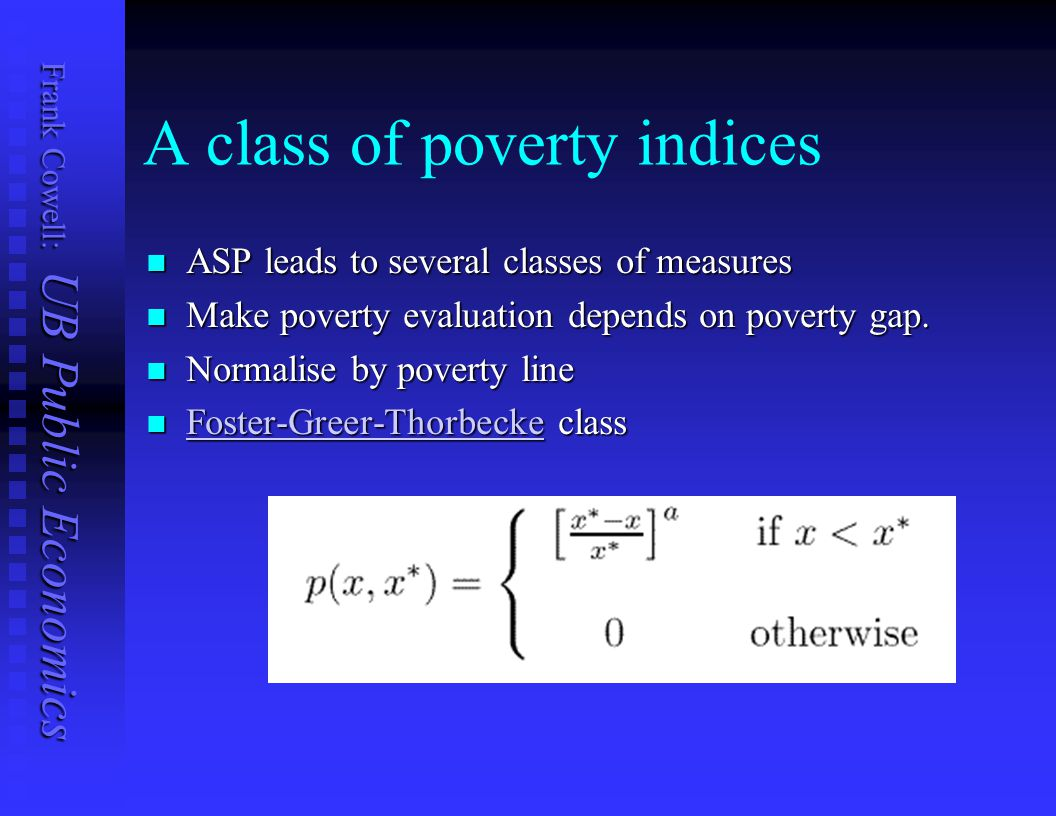 A class of poverty indices