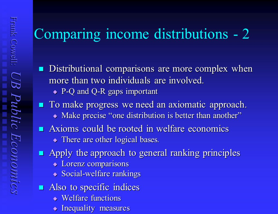 Comparing income distributions - 2