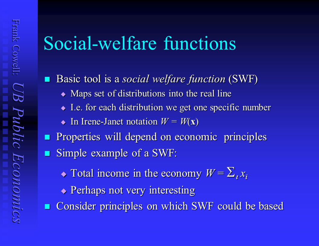 Social-welfare functions