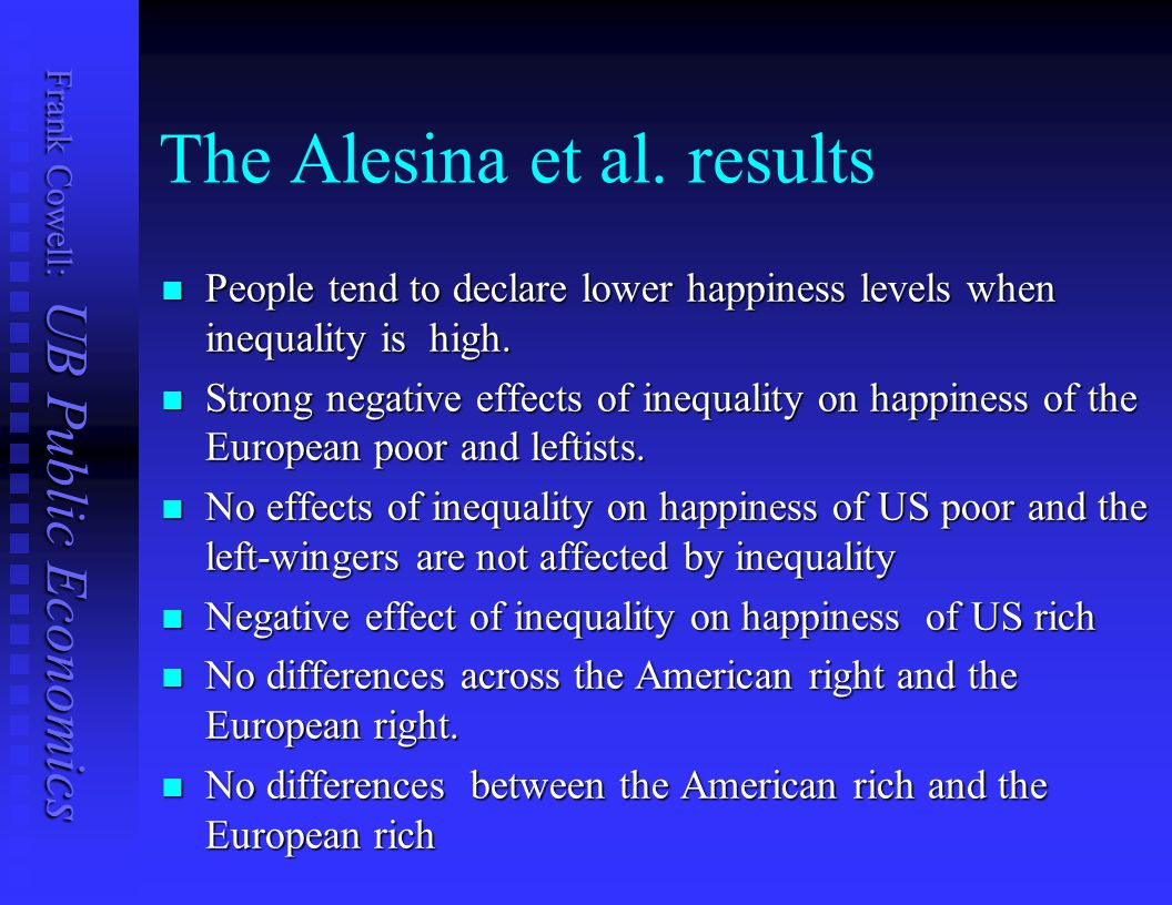 The Alesina et al. results