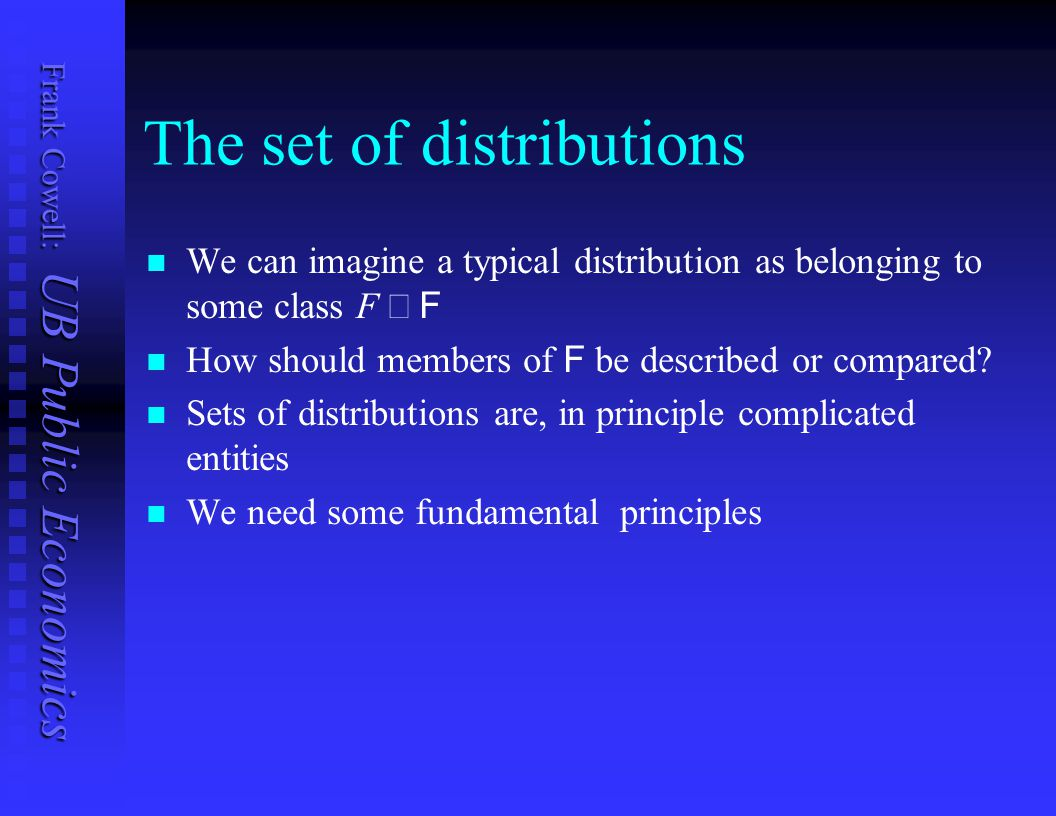 The set of distributions