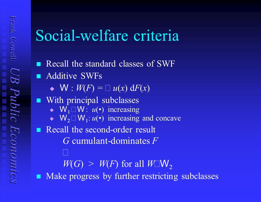 Social-welfare criteria