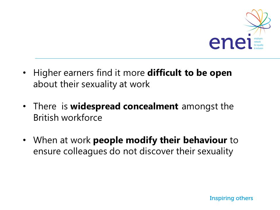 Higher earners find it more difficult to be open about their sexuality at work