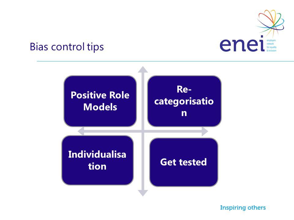Bias control tips Positive Role Models Re-categorisation