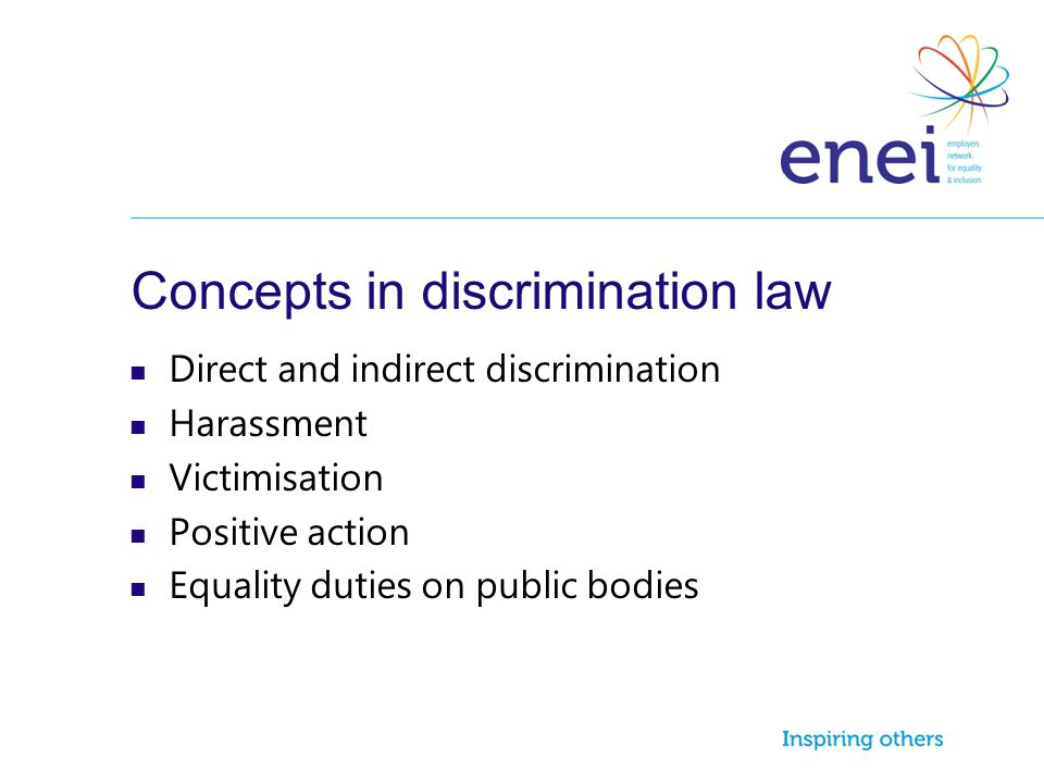 Concepts in discrimination law