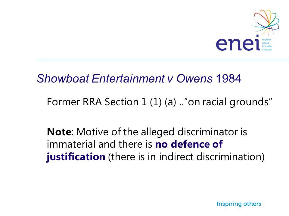Showboat Entertainment v Owens 1984