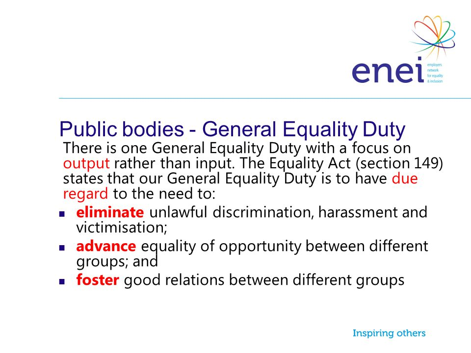 Public bodies - General Equality Duty