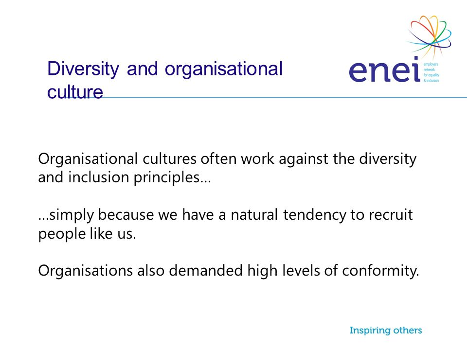 Diversity and organisational culture