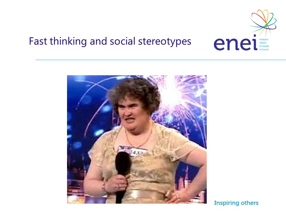 Fast thinking and social stereotypes