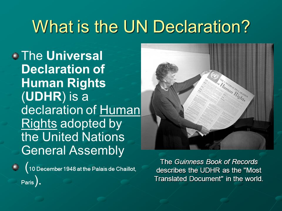 What is the UN Declaration