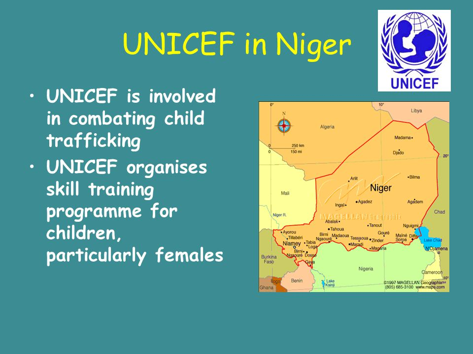 UNICEF in Niger UNICEF is involved in combating child trafficking