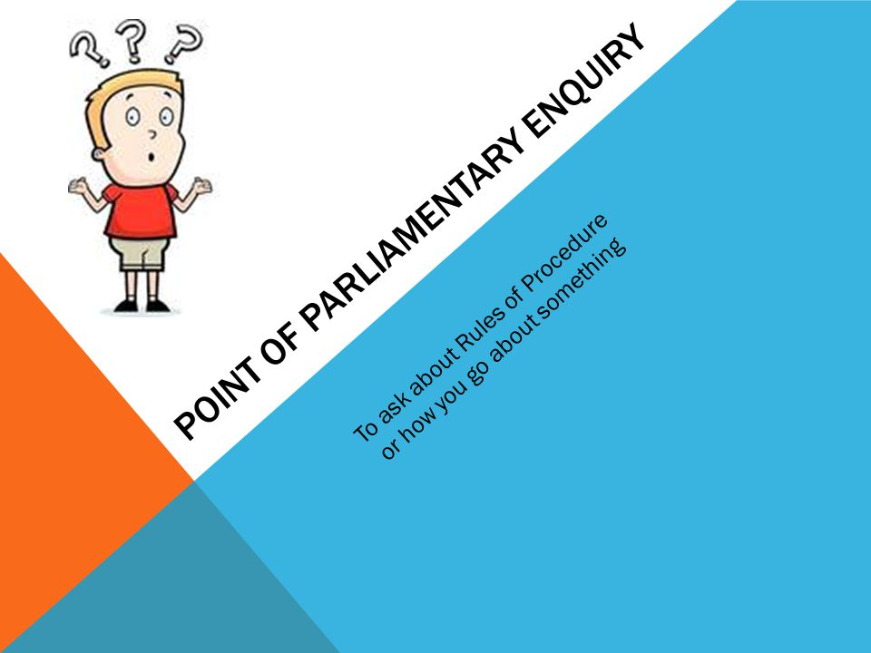 Point of parliamentary enquiry
