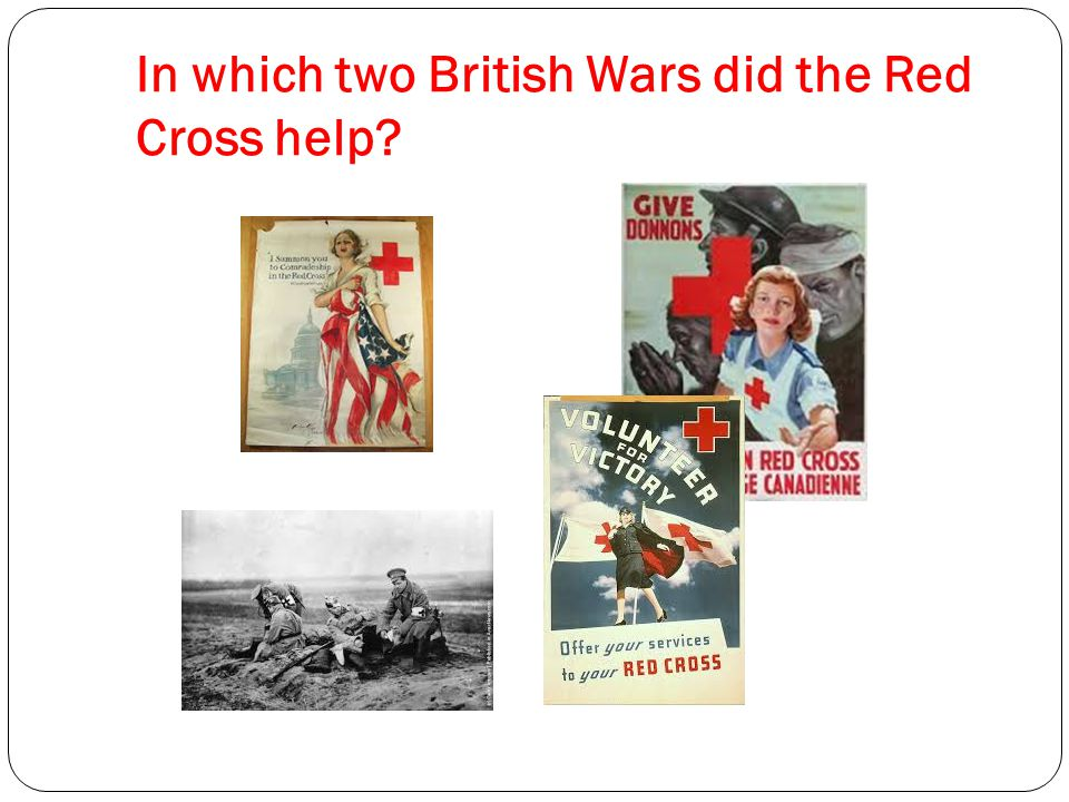 In which two British Wars did the Red Cross help