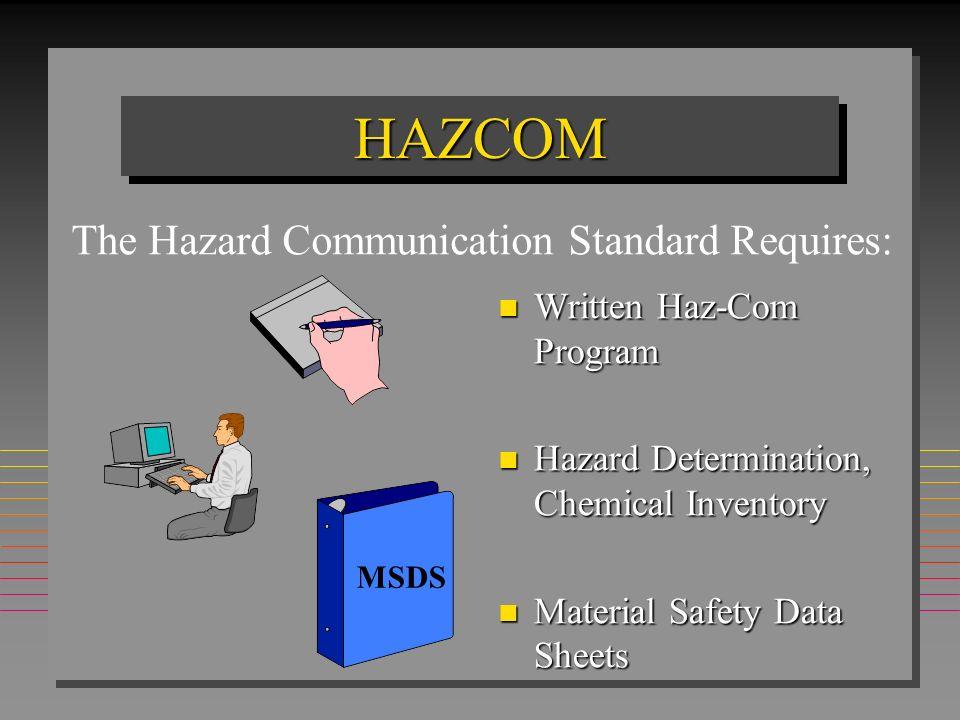 The Hazard Communication Standard Requires:
