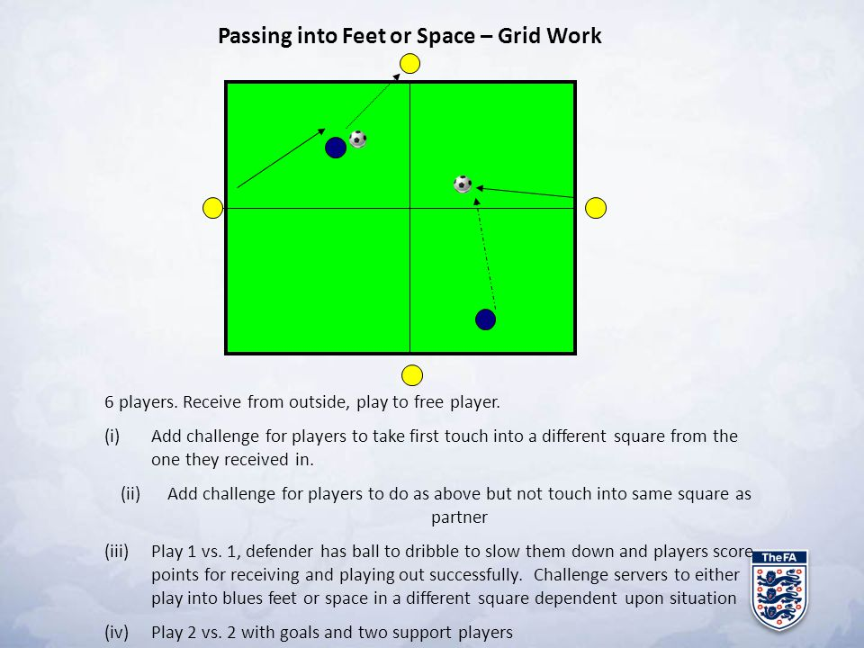 Passing into Feet or Space – Grid Work