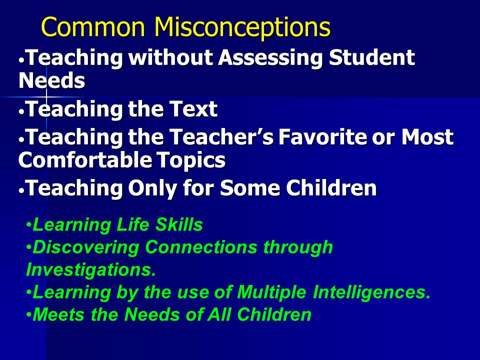 Common Misconceptions