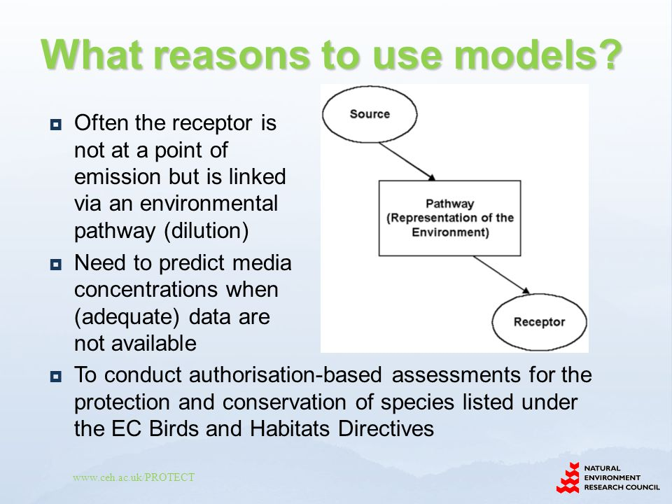 What reasons to use models