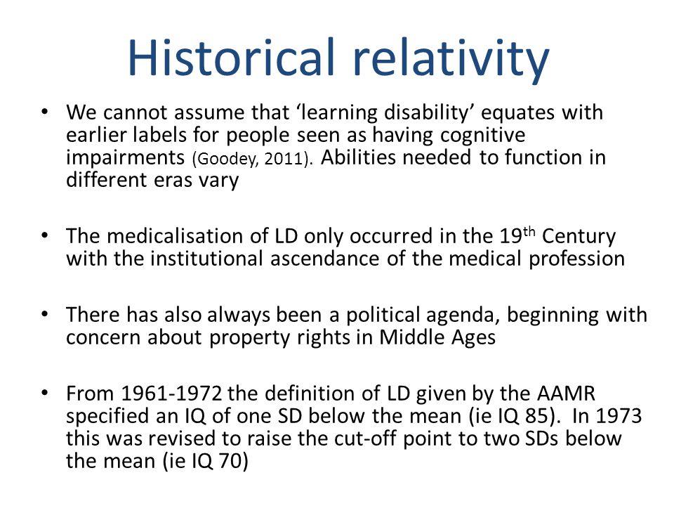 Historical relativity