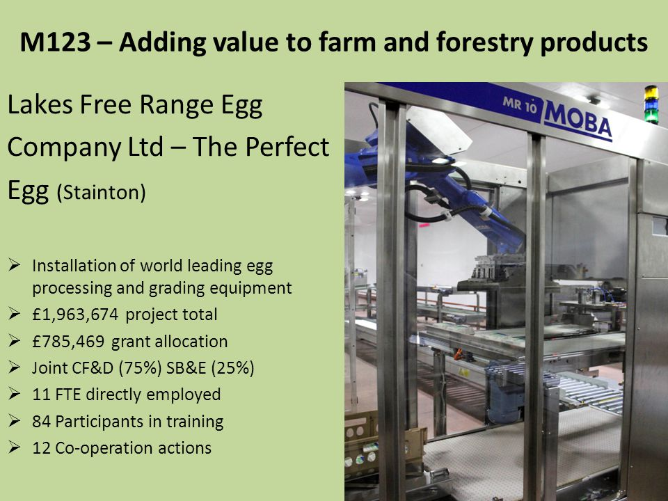 M123 – Adding value to farm and forestry products