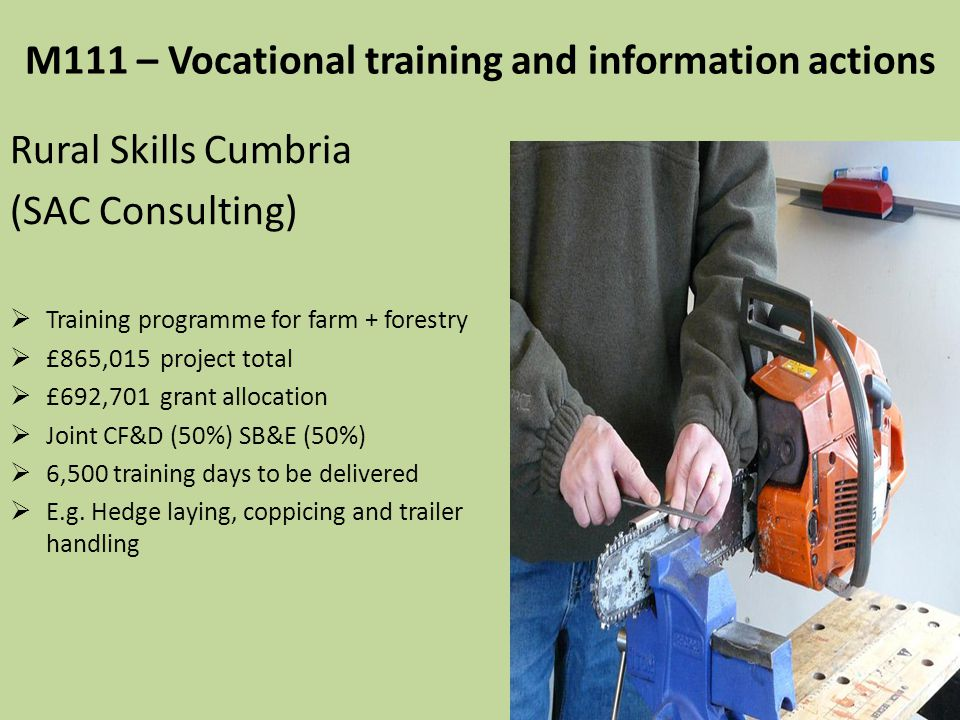 M111 – Vocational training and information actions