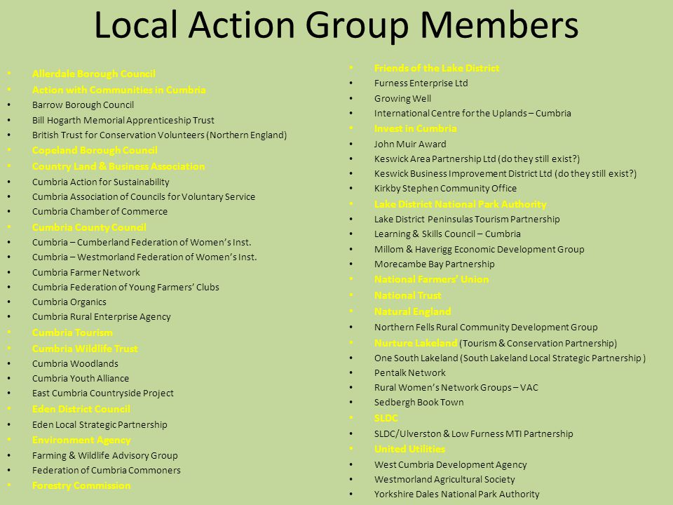 Local Action Group Members