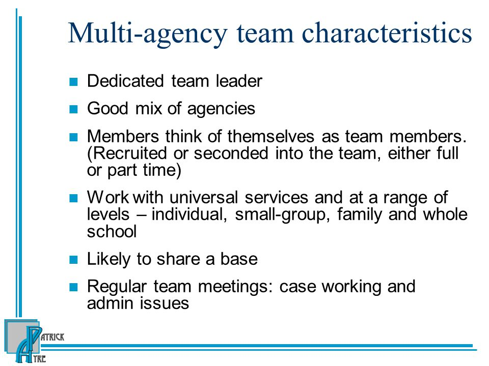 Multi-agency team characteristics