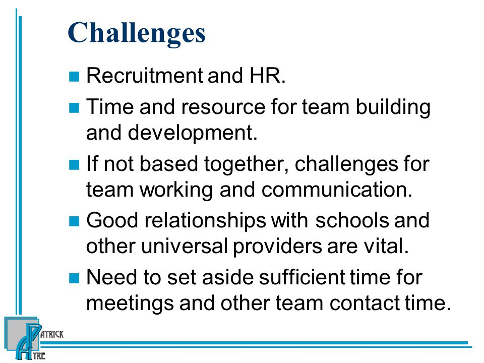 Challenges Recruitment and HR.