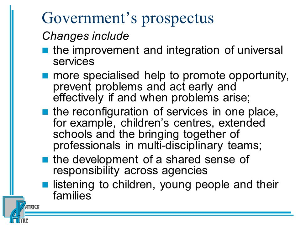 Government's prospectus